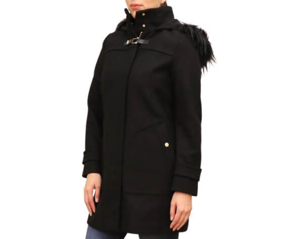 Pictures of Cole Hann Signature Wool-Blend Coat - Black 21,22,23--19
