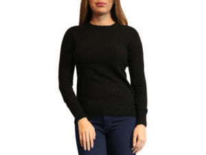 Pictures of Cynthia Vincent Cashmere Crewneck Sweater - Black 28--19