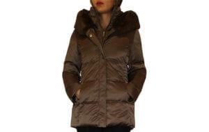 T Tahari Britney Short Puffer Coat - Brown 20--19