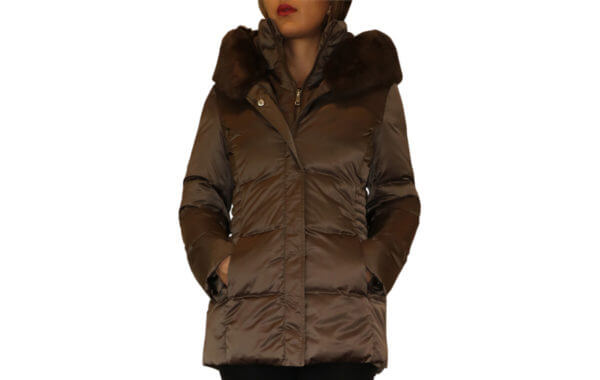 T Tahari Britney Short Puffer Coat - Brown 20--19