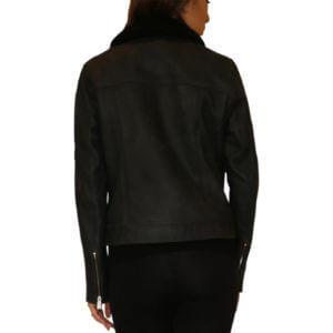 Pictures of Ecru Leather Jacket - Black 24--19